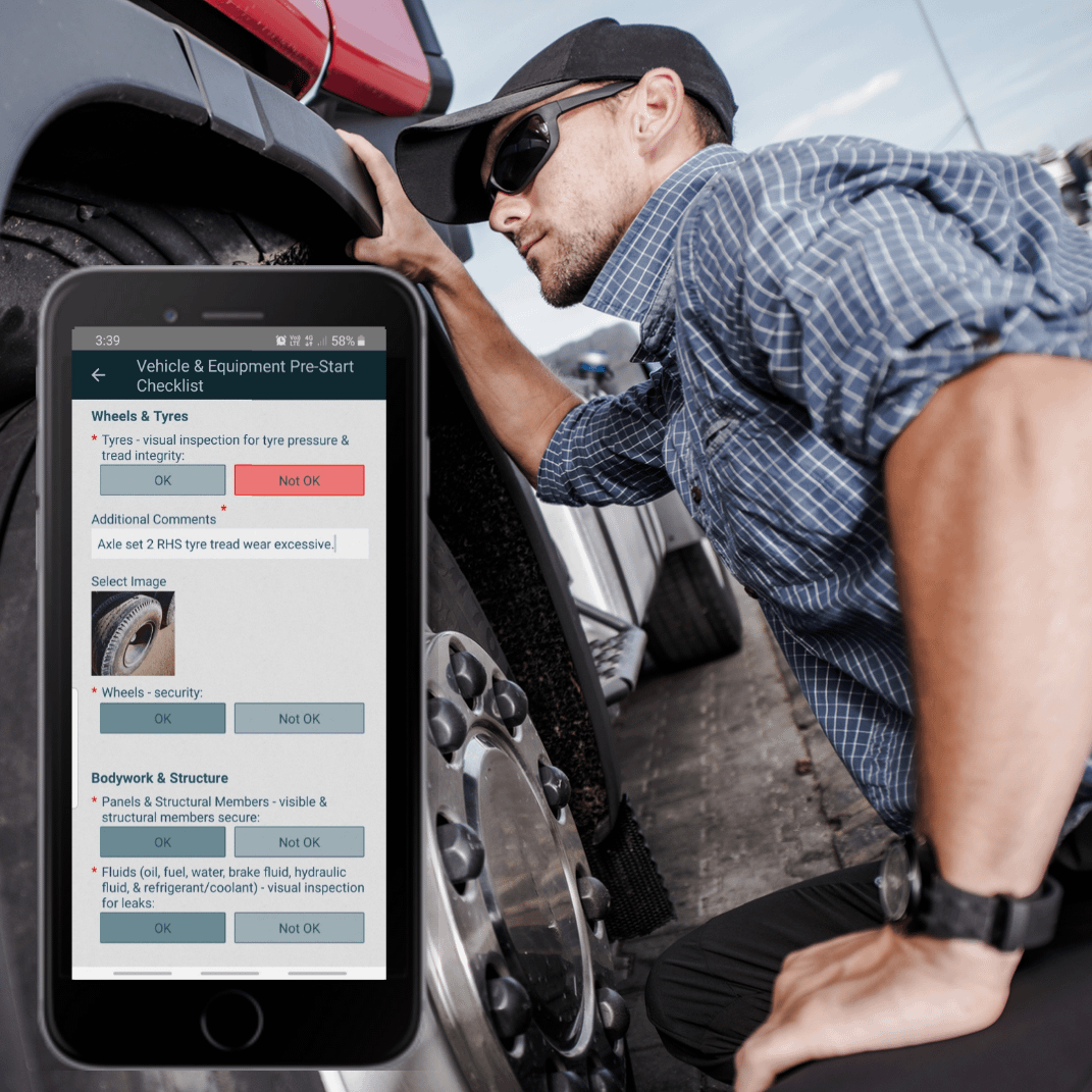 DIGI CLIP pre-start checklist app